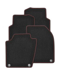 Textilfußmatten-Set Premium mit roter Einfassung