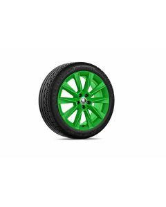 "Leichtmetallfelge Savio in grün 7,0Jx17"" ET46"